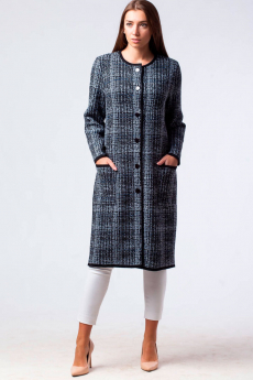 Трикотажное пальто на пуговицах Kvinto