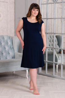 Темно-синяя ночная сорочка Шарлиз
