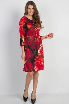 Новинка: красное платье с поясом Bast