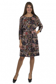Новинка: трикотажное платье с поясом Bast