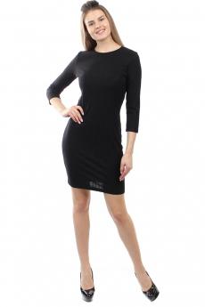 Новинка: черное трикотажное платье Bast